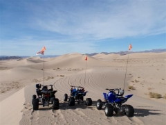 quad run- dunes all to ourselves