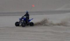 Kicking Up Sand