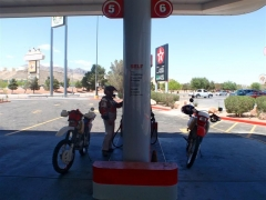 Fueling up in Primm
