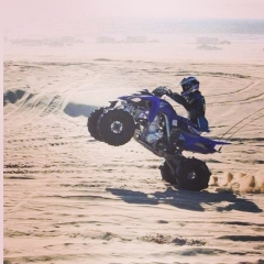 Riding my 700 in Pismo