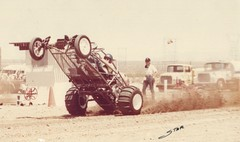 Me Doing Wheelie at Sand Drags 40 years ago